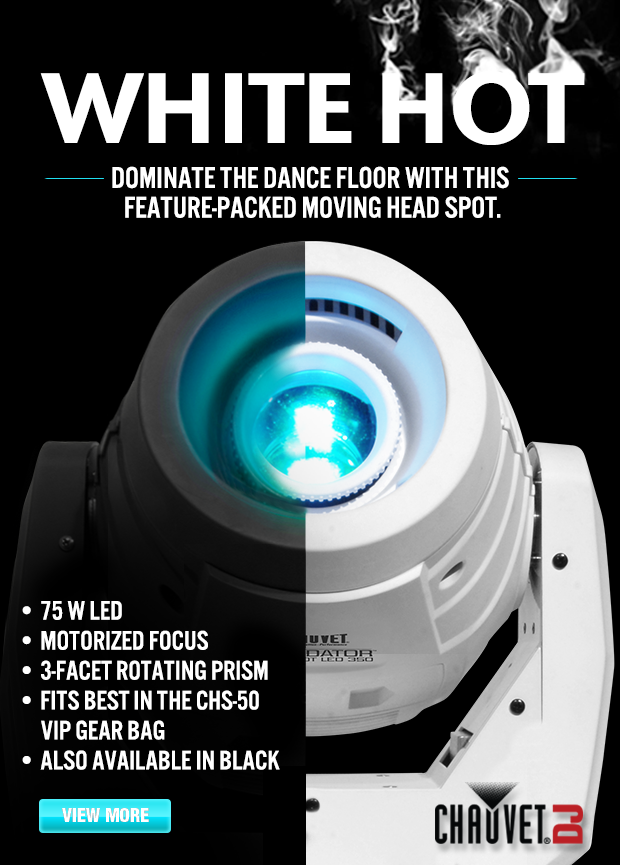 Chauvet Intimidator Spot LED 350  sc 1 st  Knight Sound u0026 Lighting & Chauvet Intimidator Spot LED 350 u2013 Now in White! | Knight Sound ...