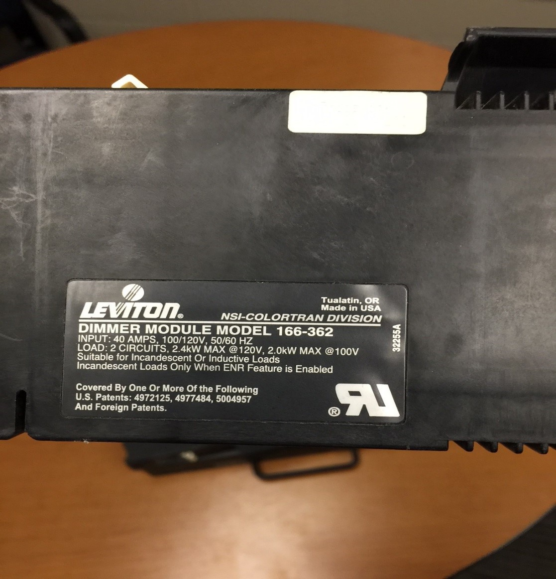 Leviton Dimmer Module Model 166-362 (Colortran ENR Dimmer, NSI Topaz ...